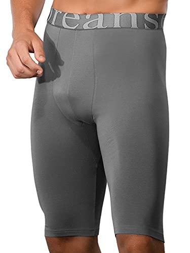 Doreanse Underwear Herren Langbein Boxershorts Modal Long Boxer Smokegrau XXL