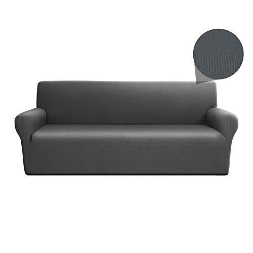 Copridivano - Linea Oro - elasticizzato - Grigio - 3 Posti - adattabile ad ogni tipo di divano - salvadivano gatto cane - lavabile