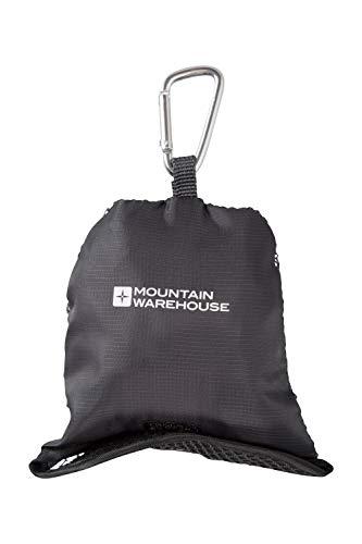Mountain Warehouse Serviette de Voyage à Clip Medium- 70 x 50cm, séchage Rapide, très légère - Serviette de Yoga, Plage, Sport et Gym Gris foncé Taille Unique
