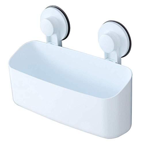 UNISHOP Cesta de Ducha con Ventosa para Pared de Baño y Cocina, Estante de Ducha para Jabones Sin Taladrar, Organizador de Plástico, Sin Perforaciones