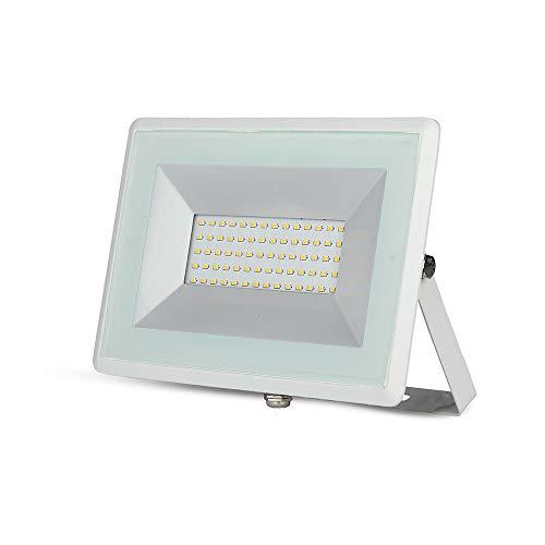 V-TAC VT-4051 Proiettore a LED, 50 W, bianco freddo, IP65, in alluminio