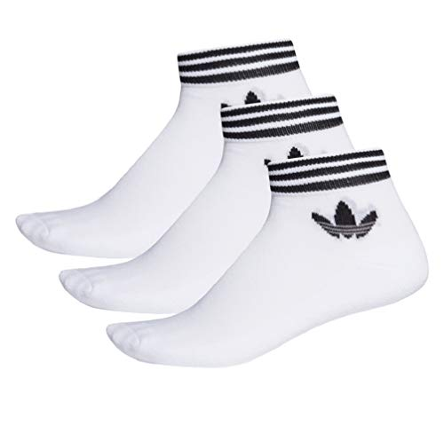 adidas Trefoil Ankle SCK HC Socks Socken 3er Pack (39-42, white/black)