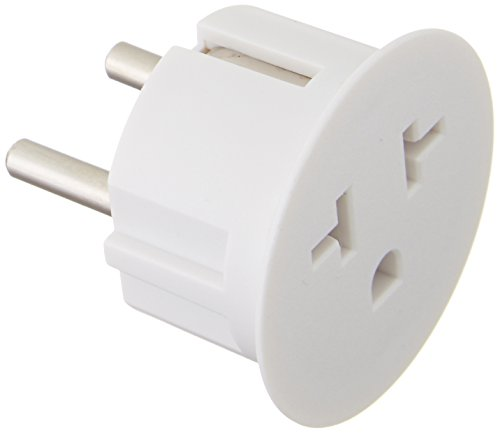 6PKSCHUKO Heavy Duty Grounded USA American to European German Schuko Outlet Plug Adapter - 6 Pack