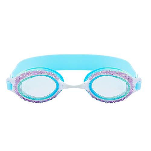 Yowablo Kinder Anti-Fogging Anti-UV-Schwimmbrille Brillenverstellbarer Einstellbarer Augenschutz (1Stck,Blau)