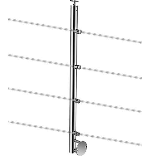 VEVOR Barandilla de Acero Inoxidable Altura de 110 cm Poste