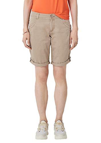 s.Oliver RED Label Damen Smart Bermuda: Shorts aus Baumwolle beige 42