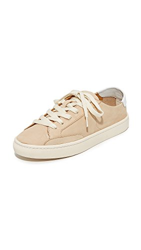 Soludos Women'sIbiza Classic Lace-Up Leather Sneaker Nude, Size 7.5