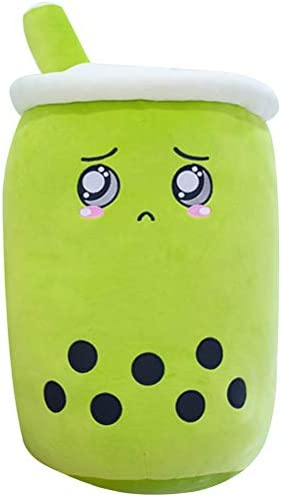 Boba Plushie Kawaii Stuffed Toy, 24cm/9.4inch Cute Soft Design Bubble Tea Plush Toys for Girls & Boba Lovers