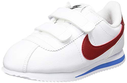 Nike Cortez Basic SL (TDV), Zapatillas de Estar por casa Bebé Unisex, Blanco (White/Varsity Red-Varsity Royal-Black 103), 17 EU