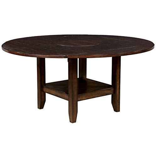 Furniture of America Nith Drop Leaf Dining Table in Brown Cherry