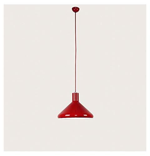 Kroonluchter, LED restaurant lamp met één kop creatieve persoonlijkheid kunst eenvoudige moderne Nordic IKEA bar aluminium rood kroonluchter, kroonluchter, kroonluchter,