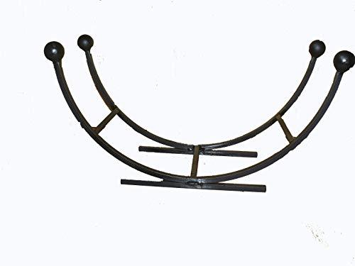 courbe Panier à bois en fer forgé Noir
