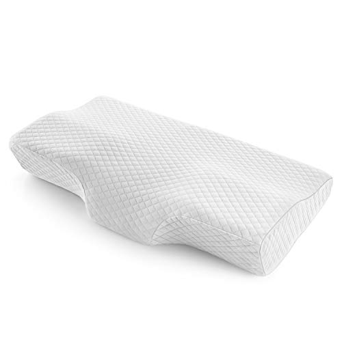 Bed Pillows for Sleeping, Memory Foam Cervical Pillow for Neck Pain, Ergonomic Contour Pillow, Firm Pillow, Washable Removeable Cover, Suitable for Side, Back, Stomach Sleepers