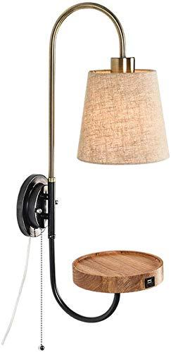 Wandverlichting 's nachts kantoor koffie bar opslag sjaal ontwerp stof lampenkap hoofdlichtbron harmonisch perfect decor hout + ijzer + doek wandstaal