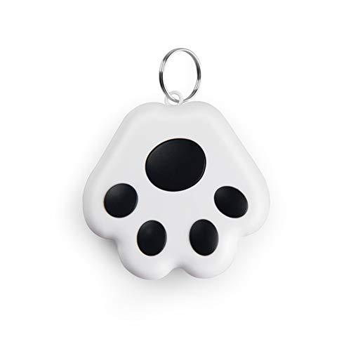CRGANGZY Localizador de localización antipérdida con Bluetooth portátil, localizador de Mascotas con GPS con Bluetooth, Llavero Inteligente antipérdida, localizador de Perros y Gatos (Negro)