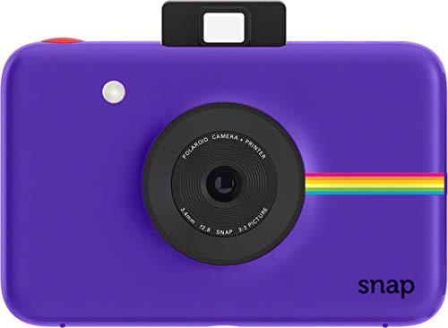 Polaroid Snap - Cámara digital instantánea, tecnología de impresión Zink Zero Ink, 10 Mp, micro SD, fotos de 5 x 7.6 cm, Púrpura