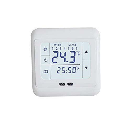 ACEHE Controlador de Temperatura, termostato de calefacción de Pantalla táctil termorregulador para Sistema de calefacción eléctrica de Piso cálido Controlador de Temperatura con Bloqueo para niños