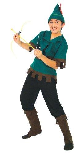 Guirca- Bandito del Bosco Disney Costume Robin Hood Bambino 5/6 Anni, Verde, Nosize, 81241