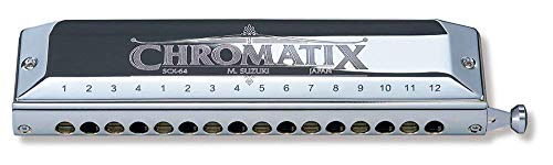 Suzuki SCX-64C Chromatix Series Harmonica Key of C, 64 Reeds, 16 Holes