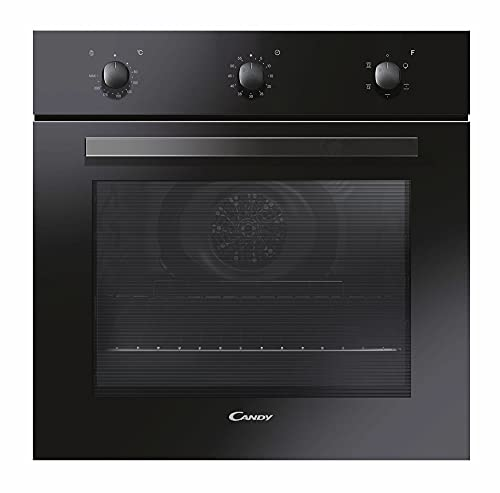Candy FCP502N Forno Elettrico Ventilato, 4 Programmi, 2 Griglie, Classe Energetica A, 65 Litri, 595x595x568 mm, Nero