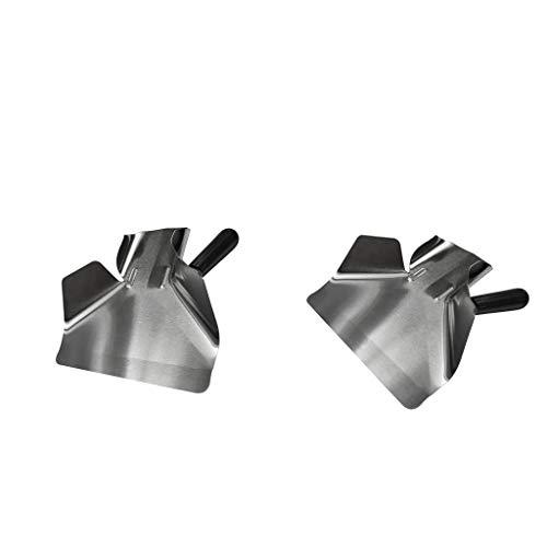 Baoblaze 2X Stainless Steel One Handle Commercial Fries Bagger Food Popcorn Ice Scoop