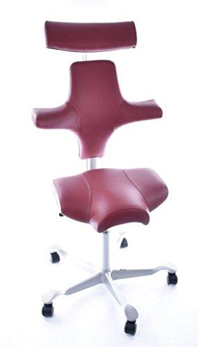 HAG Capisco Model 8107 Leren rood bureaustoel zadelstoel