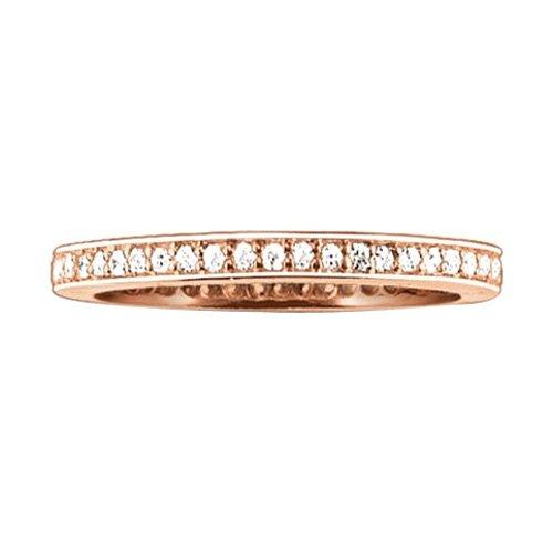 Thomas Sabo Damen-Ring Silber vergoldet Zirkonia weiß Gr. 54 (17.2) - TR1983-416-14-54