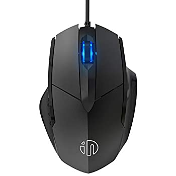 Inphic Wired USB Mouse Silent Click and Optical Tracking,1200DPI 3-Button Corded Mouse for PC Computer Laptop MacBook Office Black