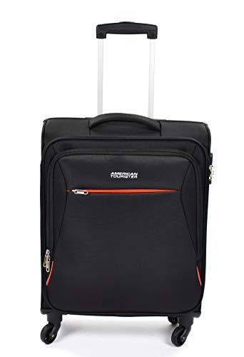 American Tourister 89725-0581 bolsa de equipaje Tranvía Negro Poliéster - Bolsa de viaje (Tranvía, Negro, Poliéster, 4 rueda(s), Cremallera, 1 pieza(s))