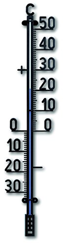 TFA 12,6005–Thermometer außen, Kunststoff, Größe XXL, Farbe Schwarz
