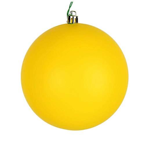 Vickerman 624074-3' Yellow Matte Ball Christmas Tree Ornament (12 pack) (N590878DMV)