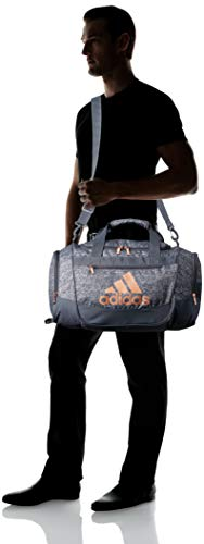 adidas Unisex Defender III Small Duffel Bag, Jersey Onix/ Rose Gold, Small