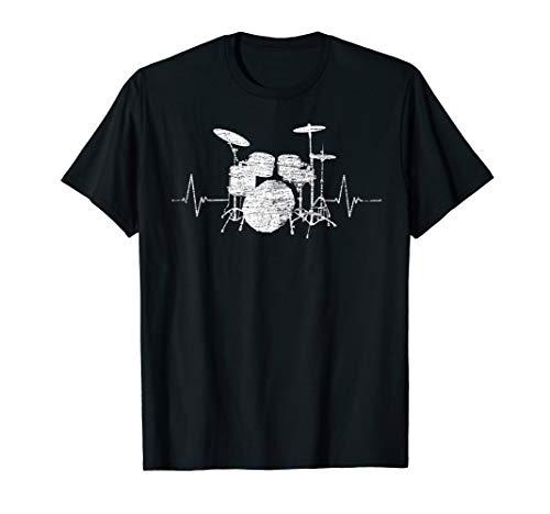 Schlagzeuger Geschenk Musik Herzschlag Schlagzeug T-Shirt