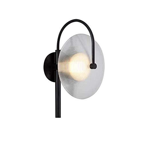 Nordic Hardware Lámpara de Pared de Vidrio Creativa Sala de Estar Pasillo Minimalista Personalidad Creativa Lámpara de Pared de cabecera E14 * 1, Diámetro de 25 Alto 44 cm (luz cálida)