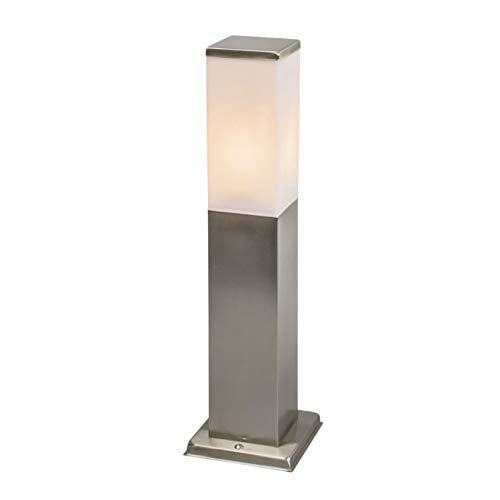 QAZQA Moderne buitenlamp 45 cm staal - Malios Kunststof/Roestvrij staal (RVS) Kubus/Rechthoekig/Langwerpig Geschikt voor LED Max. 1 x 60 Watt