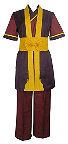 HonRmon Fire Nation Royal Family Fire Lord Zuko Uniform Outfit Cosplay Costume (Men-S) Brown