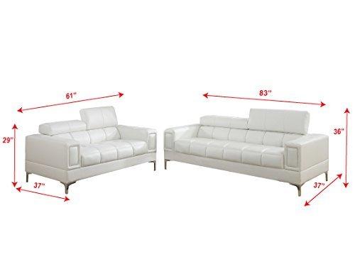 Major-Q Bonded Leather 2-Pcs Sofa Set 4