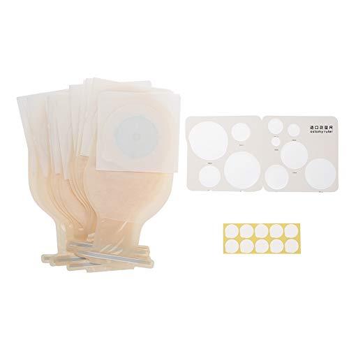 Josopa 10 bolsas de colostomía con sistema de una sola pieza, bolsa de osstomía con cierre, suministros de colostomía, bolsa drenable para el cuidado del estoma