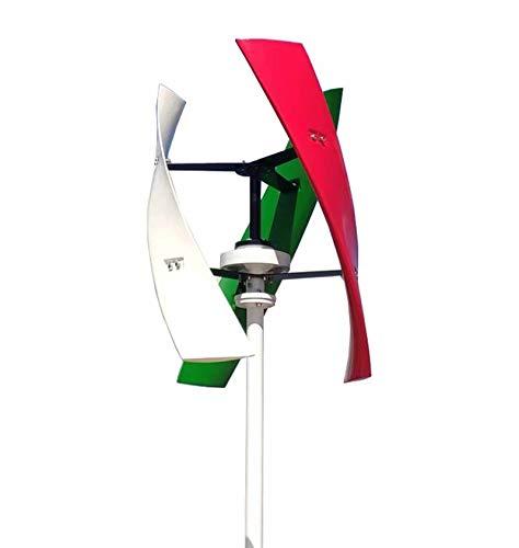 FLYT Turbina Eólica 600W 24V Aerogenerador vertical Pequeño Generador de Viento de Uso...