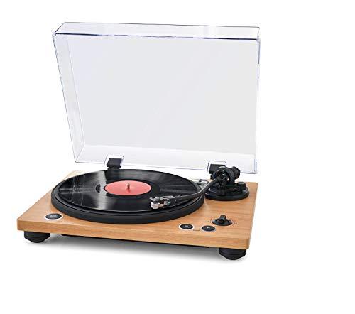 Thomson TT450BT Audio- - Plattenspieler (Audio-Plattenspieler mit Riemenantrieb, Holz, 33,45 RPM)