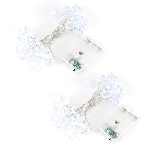AMONIDA 2Pcs String Light,Flower Shaped LED String Light for DIY Wedding Party Bedroom Patio Christmas Curtain Decoration