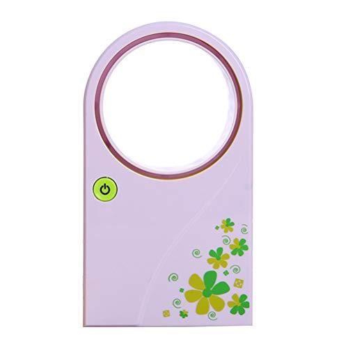 LIOOBO Été Portable Mini-Climatiseur Portable Électrique Sans Ventilateur Aucune Feuille Air Ventilateur Refroidisseur USB ou État de la Batterie (Vert)