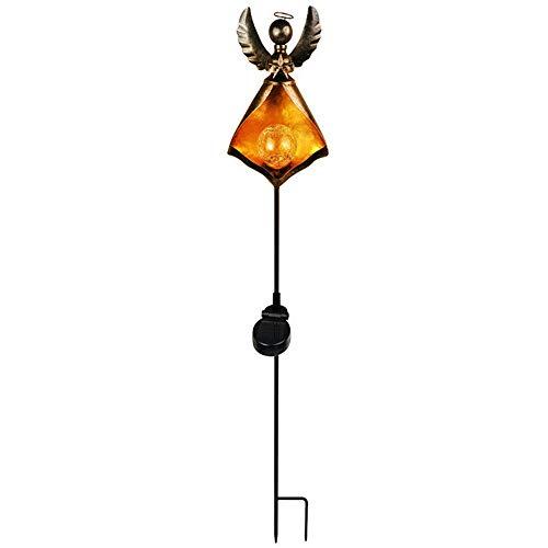 HENGX LumièRes De Torche Solaire Jardin,LED Lampes Art du Fer,IP44 éTanches,Extérieur éClairage Paysage DéCoration,LumièRe De Chemin Auto on/Off,Angel