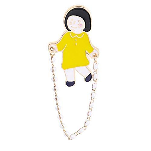 Yililay Creativo de la Historieta Linda de la Cuerda de Salto pequeño Broche broches y prendedores para niños Ropa de Las Mujeres de Navidad Accesorios C1418-2 1 Pc