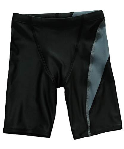 [グロウンチャーム] スクール水着 ロング丈 ライン入り 男の子 sc0004 グレー 130cm