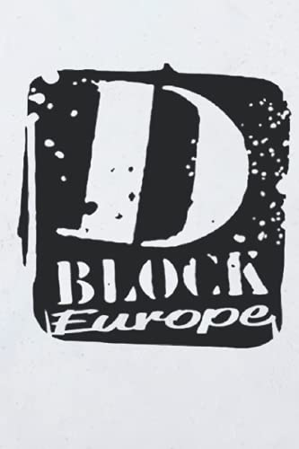 D Block Europe Notebook: - 110 Pages, In Lines, 6 x 9 Inches