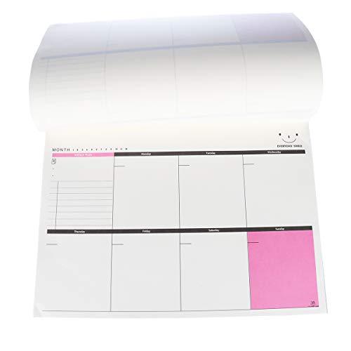 STOBOK Lágrimas del planificador semanal de Office Lágrimas para hacer Lista de tareas Programar agenda Bloc de notas para escritorio/tamaño A4