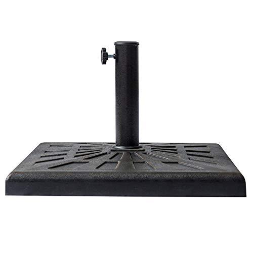 C-Hopetree 42 lb Square Base Stand for Outdoor Patio Market Umbrella, Bronze