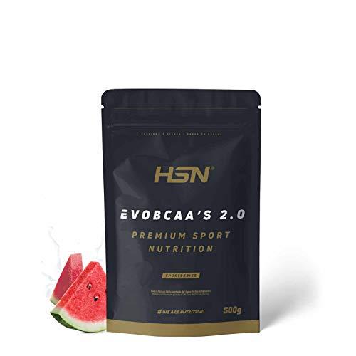 BCAA con Glutamina de HSN Evobcaa's 2.0 | Aminoácidos Ramificados Ratio 12:1:1...