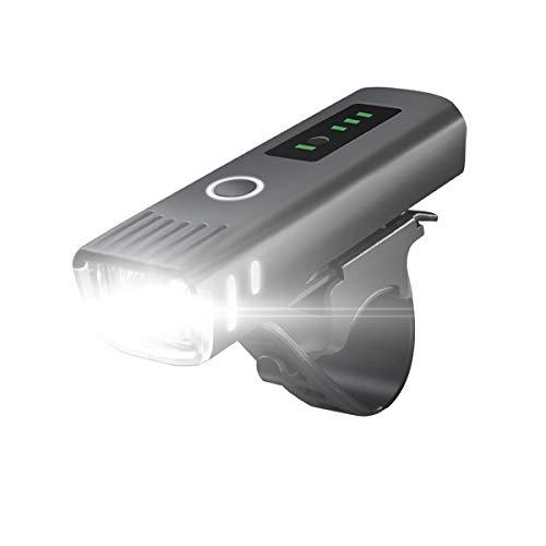 SUKEKE Fahrradlicht-Set (intelligenter Sensor), wiederaufladbare Fahrradlichter mit LED-Power-Anzeige, wasserdichte Fahrrad-LED-Frontlicht, Fahrradlichter für Straße und Berg, einfach zu montieren